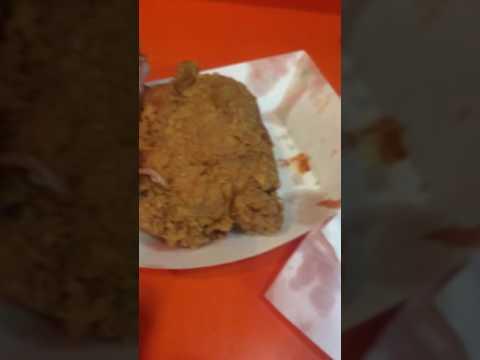 Raw Popeyes chicken