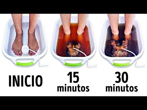 Como eliminar toxinas por los pies
