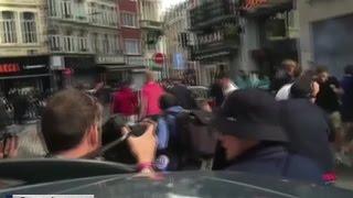 Французская полиция блокировала англичан и валлийцев у центрального вокзала Лилля