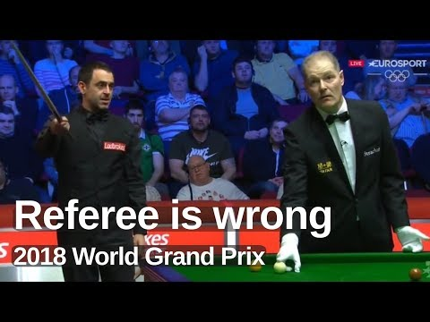 Ronnie O'Sullivan | Incident after Great Counter Attack | 2018 World Grand Prix
