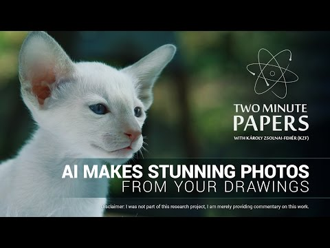 AI Makes Stunning Photos From Your Drawings (pix2pix) | Two Minute Papers #133