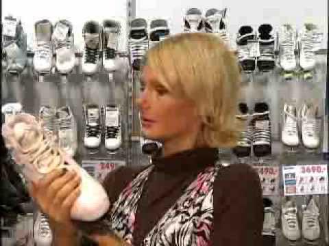 Купить Коньки фигурные женские CK Fashion Lux Jeans, цвет: серый .