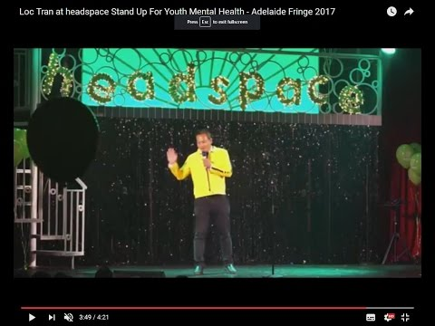 Loc Tran at headspace Stand Up For Youth Mental Health - Adelaide Fringe 2017