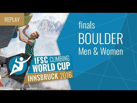 IFSC Climbing World Cup Innsbruck 2016 - Bouldering - Finals - Men/Women