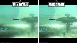 Master of Orion 4 (PC) Min vs Max - Graphics comparison / Grafikvergleich