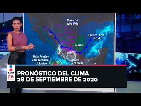 Clima para hoy 28 de septiembre de 2020