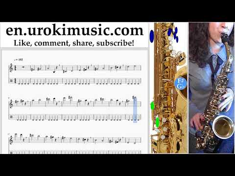 How to Play Saxophone (Alto) Clean Bandit - Rockabye ft Sean Paul Anne-Marie Tabs Part#1 exercises,
