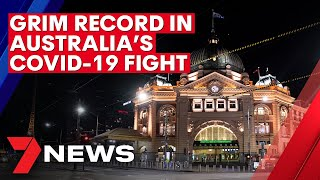 Coronavirus: Grim record in Australia's COVID-19 fight | 7NEWS