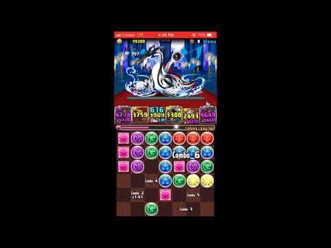 Puzzles & Dragon - The Queen's Temple of Dance - Top floor one shotting Hera Nyx