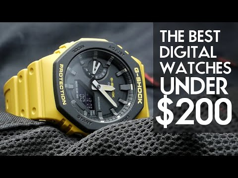 Top 10 Digital Watches Under $200 - Watch Of The Month. Feat. Casio G-Shock GA-2110