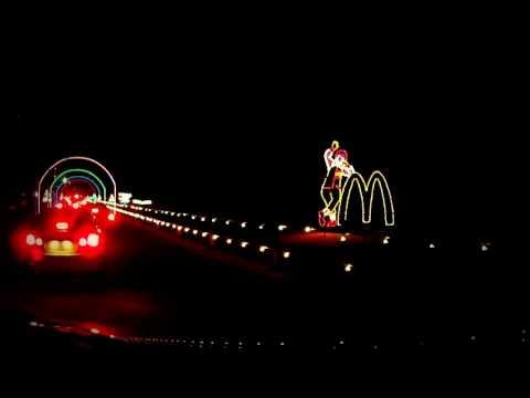 Holiday Lights along the Boardwalk in Virginia Beach (Long Video)
