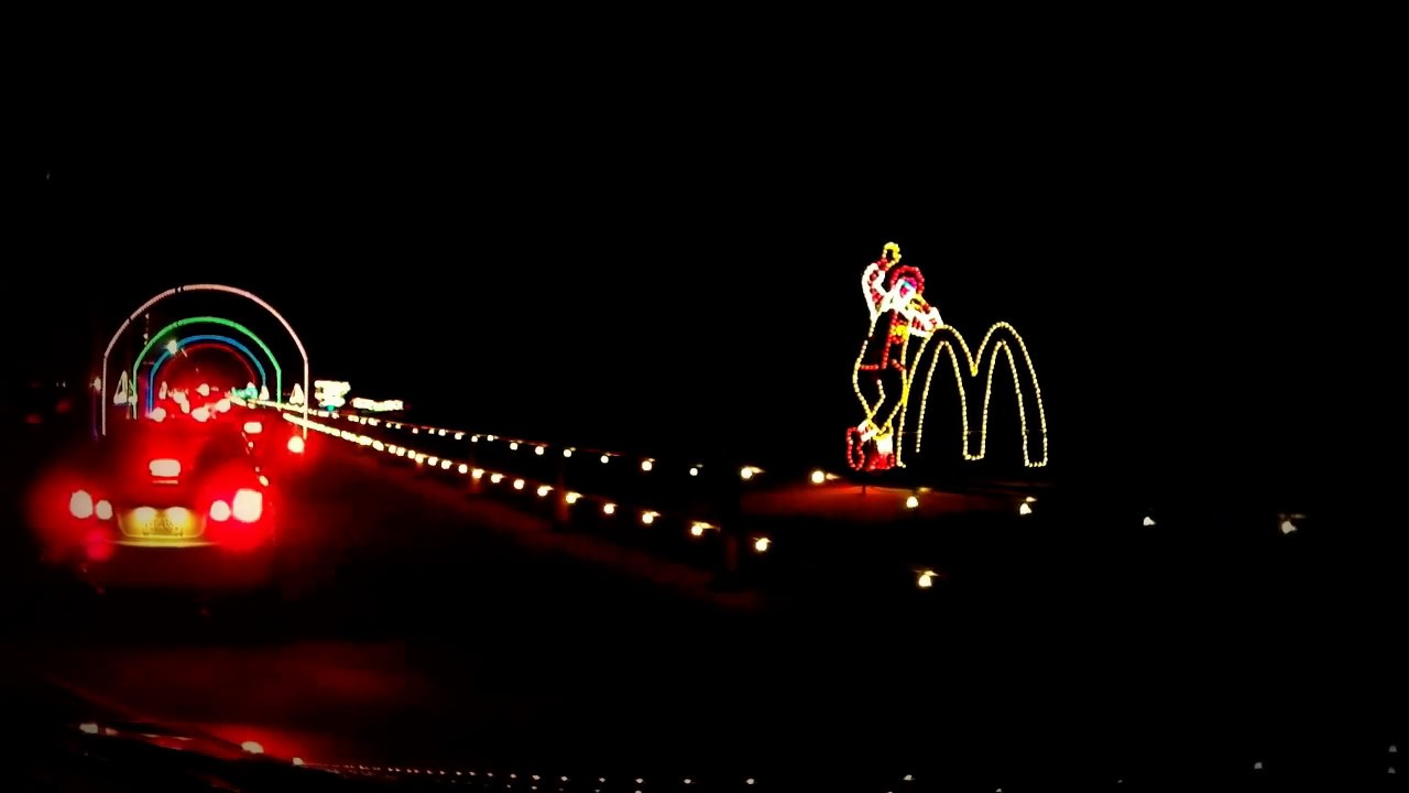 holiday lights along the boardwalk in virginia beach long video