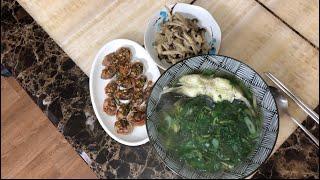 |Tập 96| Sò huyết sốt tương,canh cá ngải cứu,nấm xào và giới thiệu mỹ phẩm seoulrose,apal được tặng.
