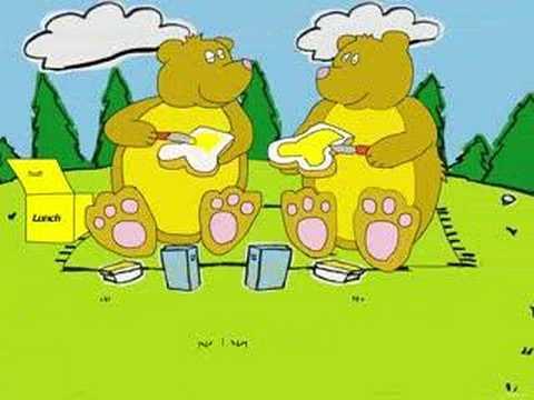 Ik zag twee beren broodjes smeren