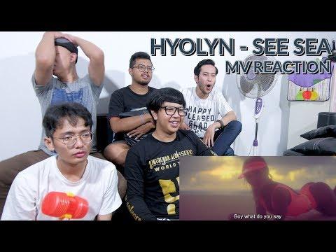 """SENAM SKJ DI PANTAI"" | HYOLYN - SEE SEA MV REACTION"