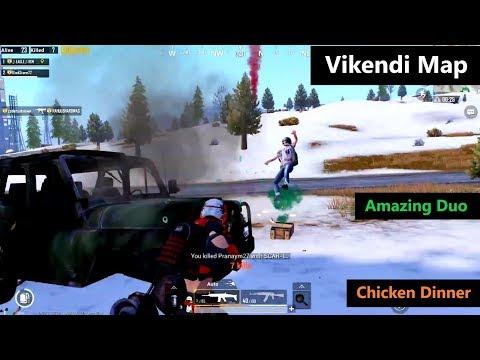 [Hindi] PUBG Mobile   Amazing Duo Match In Vikendi Map Chicken Dinner