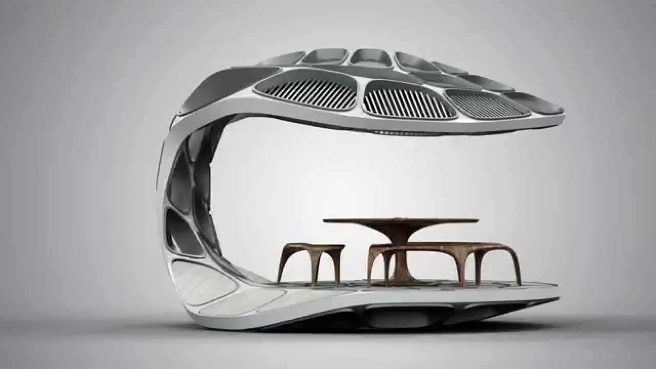 Zaha Hadid Unveils Prefabricated Volu Dining Pavilion At