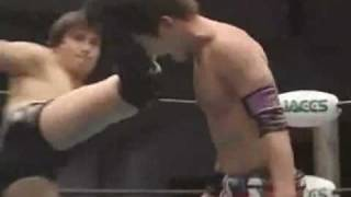 Makoto Oishi Gets His Head Kicked In