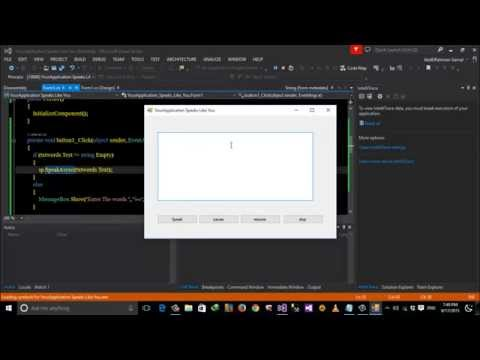 Your Application Speaks Like You part 1 using C# in Arabic