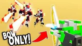 BOW vs 100 ROBOTS CHALLENGE! - Clone Drone In The Danger Zone #5