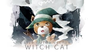 TIME LAPSE ADOBE ILLUSTRATOR : CAT WITCH