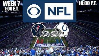 2019 NFL Season - Week 7 - (Prediction) - Texans at Colts