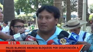 PALOS BLANCOS ANUNCIA BLOQUEOS POR DESATENCIÓN A SUS DEMANDAS