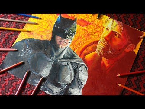 Drawing Batman / Ben Affleck Justice League