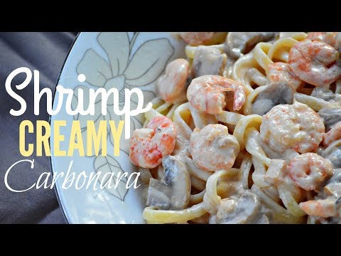 Trending SHRIMP CREAMY CARBONARA - Filipino Style | It's More Fun In The Kitchen