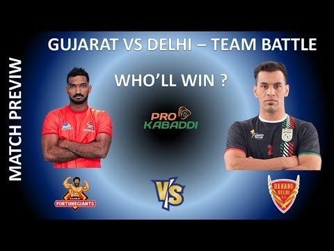 Dabang Delhi Vs Gujarat Fortunegiants Team Battle | Match preview Prediction Analysis | Who will win