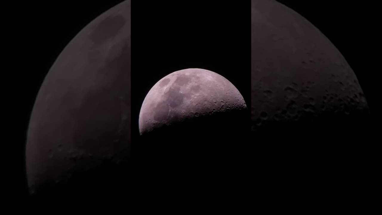 Live view of the moon throw celestron powerseeker eq youtube