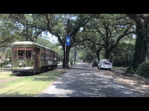 Driving Downtown - World's Oldest Streetcar Line - New Orleans USA