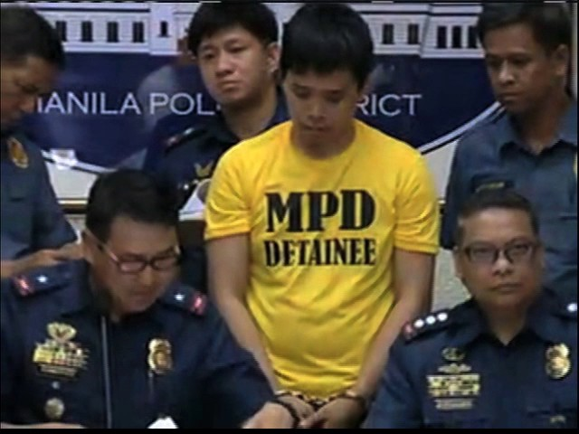 Police present suspect in April 28 Quiapo blast
