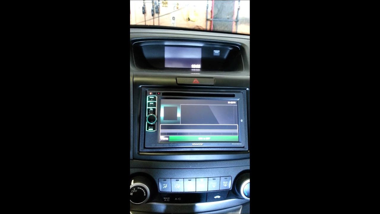 honda crv double din navigation install youtube