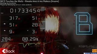 osu! NICO Touches the Wall - Niwaka Ame ni mo Makezu 4.25* 88.29%