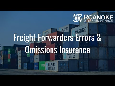 Freight Forwarders Errors & Omissions Insurance