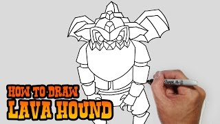 How to Draw Lava Hound | Clash of Clans