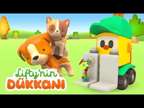 Çizgi Film. Köpek Ve Kedi Lifty'nin Dükkanında! Küçük çocuklar Için