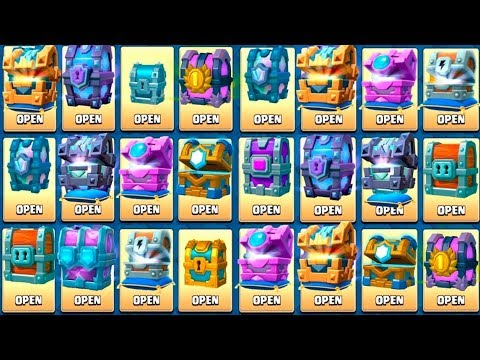 OPENING EVERY CHEST IN CLASH ROYALE - ALL NEW CHEST OPENING + LEGENDARY KINGS CHEST