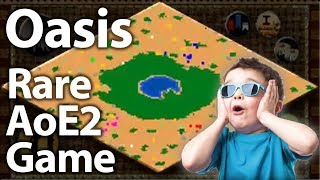 Oasis 3v3!? RARE and AWESOME AoE2 Game!