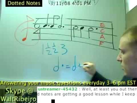 Dotted Notes In Music Explained 2!