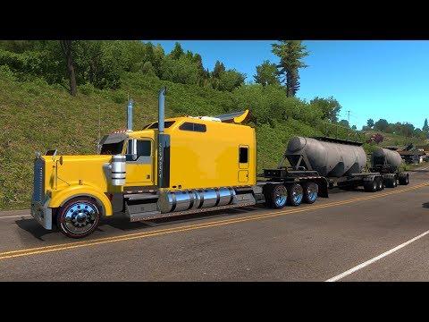 Kenworth W900 Chasis Largo | OREGON | Transportando Cemento a Coos Bay