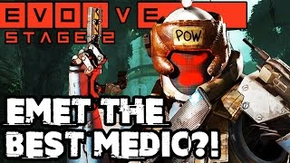 IS EMET THE BEST MEDIC?! STAGE TWO GAMEPLAY!! Evolve Gameplay Walkthrough - Hunt (PC 1080p 60fps)