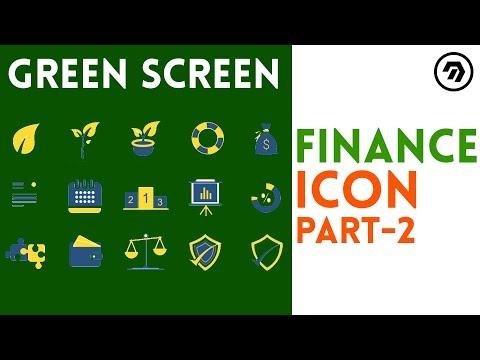 Green Screen finance Icon part-2 | mrstheboss