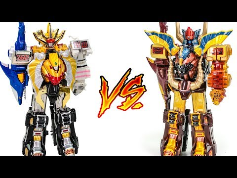 PowerRangers WildForce Animus VS MegaZord GaoRanger DX GaoGod GaoKing Union Beast Transformation