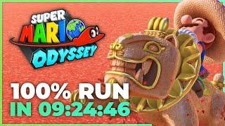 100% Speedrun World Record - Super Mario Odyssey Beaten in 9:24:46