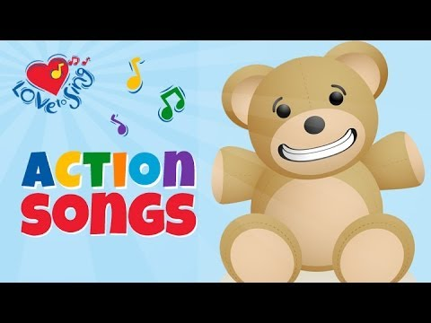 Bear Song | Johnny Bear | Children Love to Sing Kids Action Songs