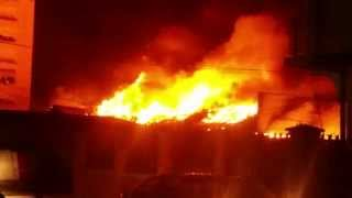Prizren Viva Fresh Store ; OLD BenAf --Viva Fresh Store on Fire 7/6/2014