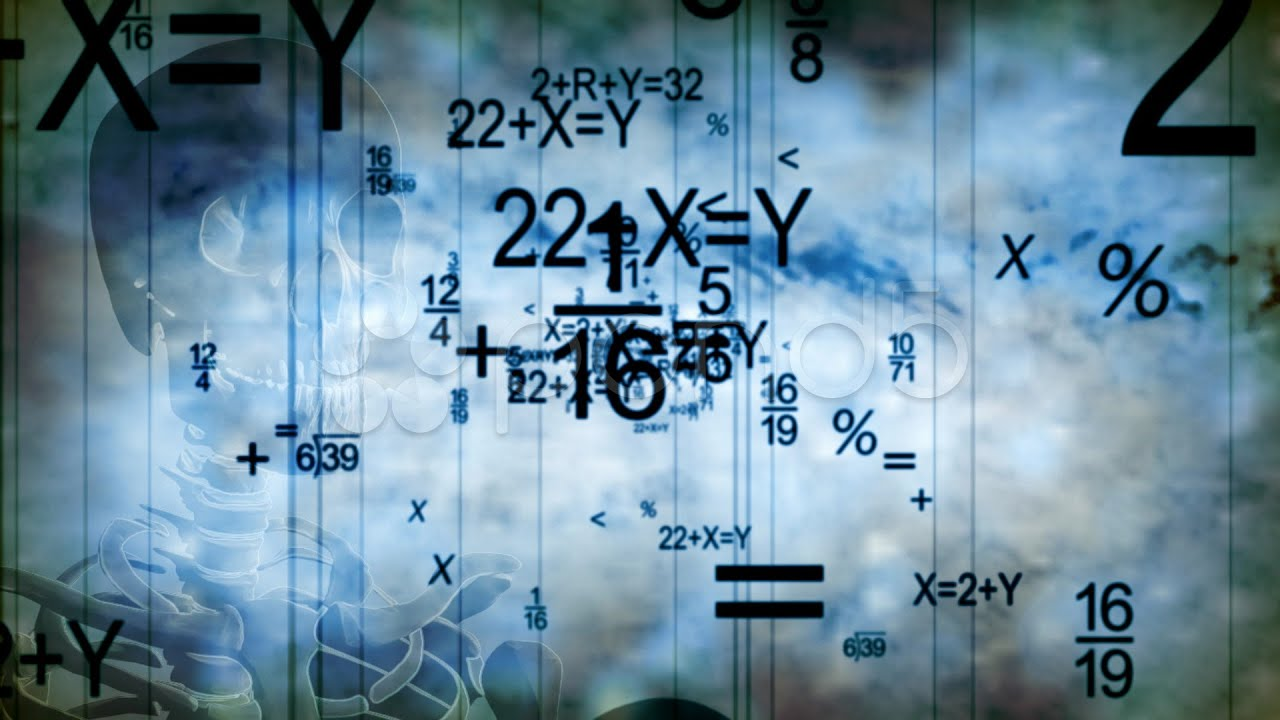 Science And Math Education Looping Animated Background