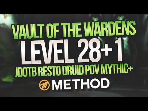 LVL 28+1 MYTHIC+ Vault of the Wardens - Method - JdotB Resto Druid POV